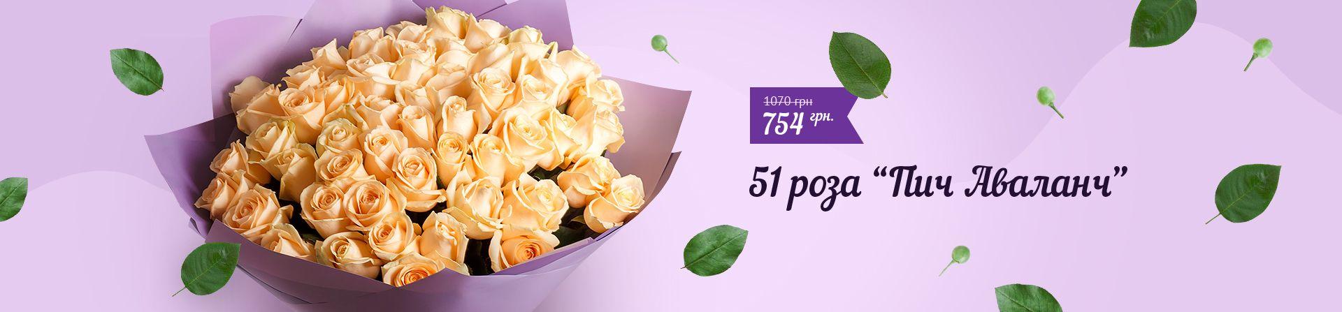 51 роза пич аваланч