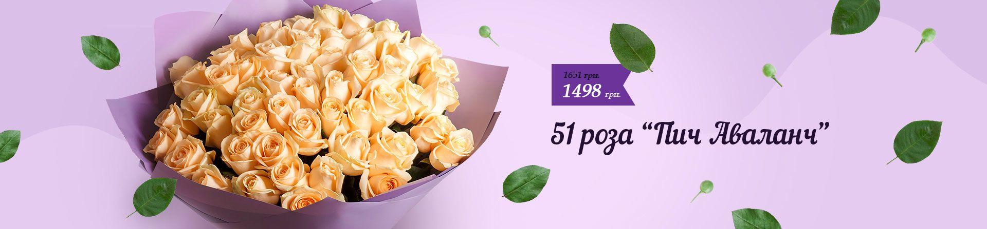 51 кремовая роза Харьков