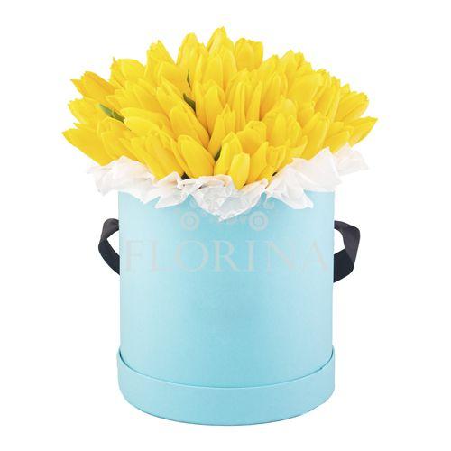 """Коробка цветов """"Лимон"""""""