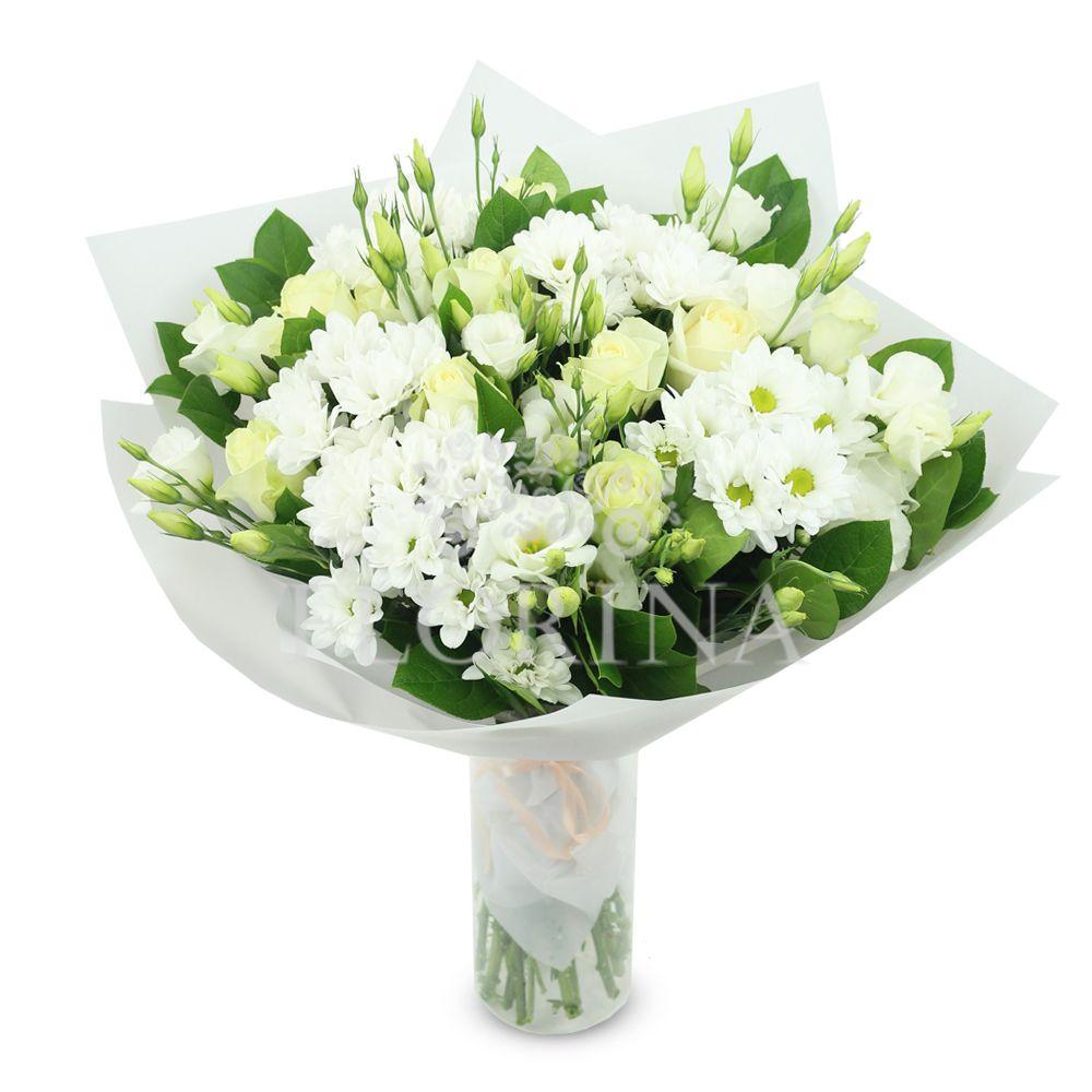 Синий букет, заказать цветы флорина