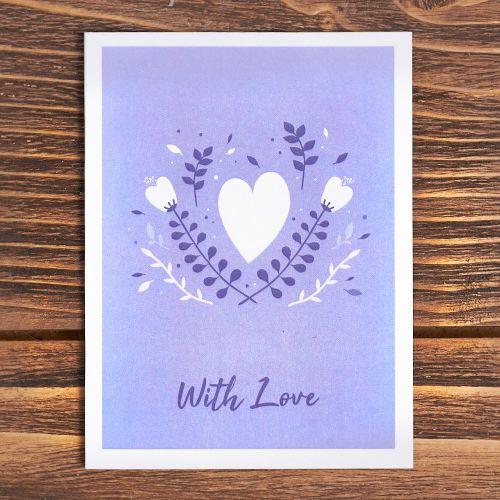 "Открытка ""Whith love"""