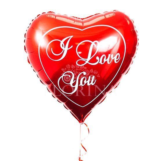 """Фольгированный шар """"I love you"""""""