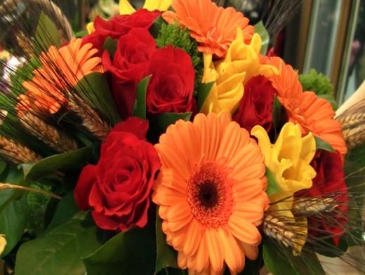 Букет цветов для бабушки
